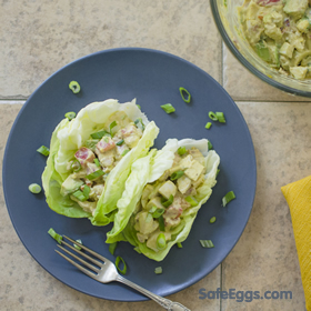 Bacon ranch egg salad recipe made with zesty paleo ranch. Yum!
