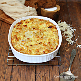 baked macaroni and cheese recipe is perfect for customizing!