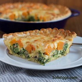 fall inspired butternut squash kale quiche #recipe is #seasonal and a nutritious breakfast option