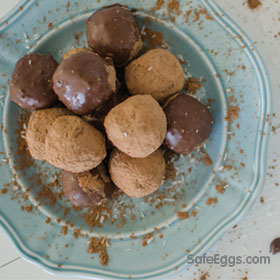 Paleo chocolate caramel delight truffles recipe is delicious!