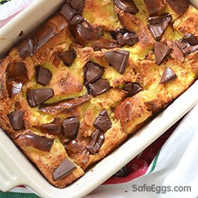 This chocolate orange bread pudding recipe is a delightful twist on classic bread pudding