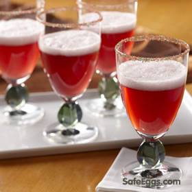 Cranberry Fizz #recipe - tangy and easy to make without the risk of Salmonella!