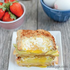 Egg in a Hole Breakfast Sandwich