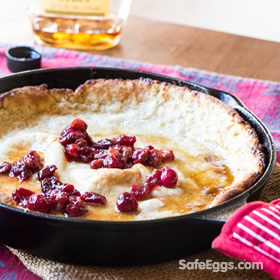 eggnog dutch baby pancakes with cranberries recipewas a winner in our #safenog recipe contest! @wimpyvegetarian