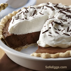 Decadent, creamy French Silk Pie recipe. #Yum #DontMindIfIDo ☺