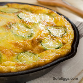 Gluten free Frittata with Zucchini recipe #Nom