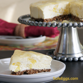 Frozen Pineapple Cream Cheese Torte - a perfect no bake #recipe with @ SafeEggs!