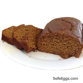 Safe, Healthy Pumpkin Bread recipe - a great fall dessert! #Nom #Foodie