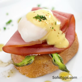 This Safe Hollandaise Sauce recipe is great over asparagus, seafood, and more!