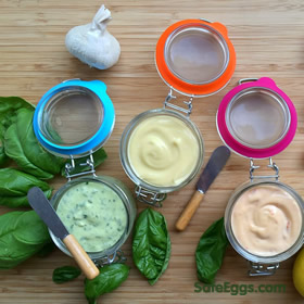 a wonderful homemade mayonnaise recipe with delicous variations! Now safe thanks to @safeeggs!
