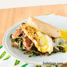 A healthy breakfast sandwich recipe that is quick and easy.