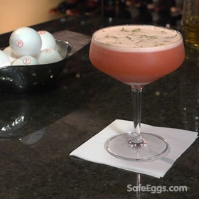 La Placé Flora recipe - perfect for a girl's night in and safe to drink when you use @ SafeEggs!