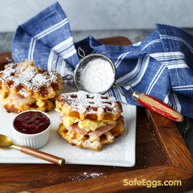 Monte Cristo on waffles recipe is so great for using up holiday leftovers! thanks @sharedappetite