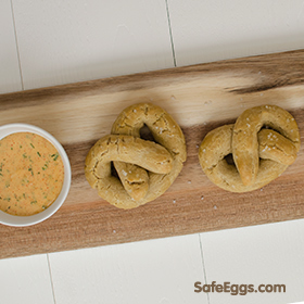 This paleo pretzels with paleo zesty ranch dip recipe has great texture and flavor!