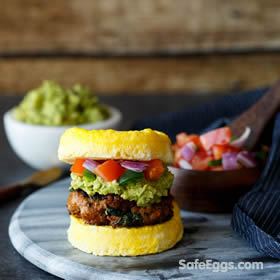 paleo southwest sausage egg sandwich recipe is simple and delicious!