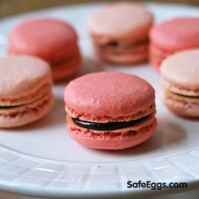 Parisian macarons with chocoalte ganache recipe - What a sweet treat!