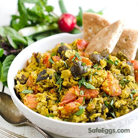 Mirza Ghassemi is a Persian dish with eggs, eggplant, turmeric, and tomatoes!