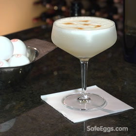 Pisco Sour recipe - exotic and safe to drink when you use @ SafeEggs.