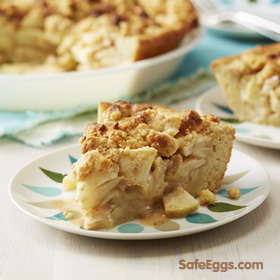 @safeeggs safest choice apple custard pie #recipe is an easy twist on a classic!