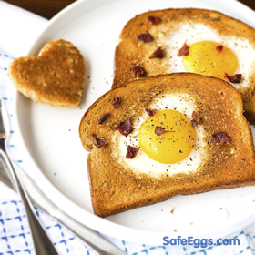 This kid-friendly Sunny Face recipe makes for a quick and easy breakfast!