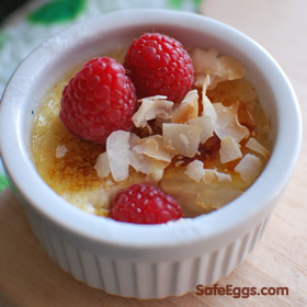 Yummy caramelized sugar, thick custard, and coconut - perfect after-dinner #dessert recipe.