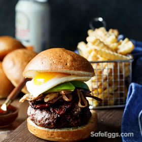 Whiskey Glazed Burgers with Spicy Brown Sugar Bacon Recipe